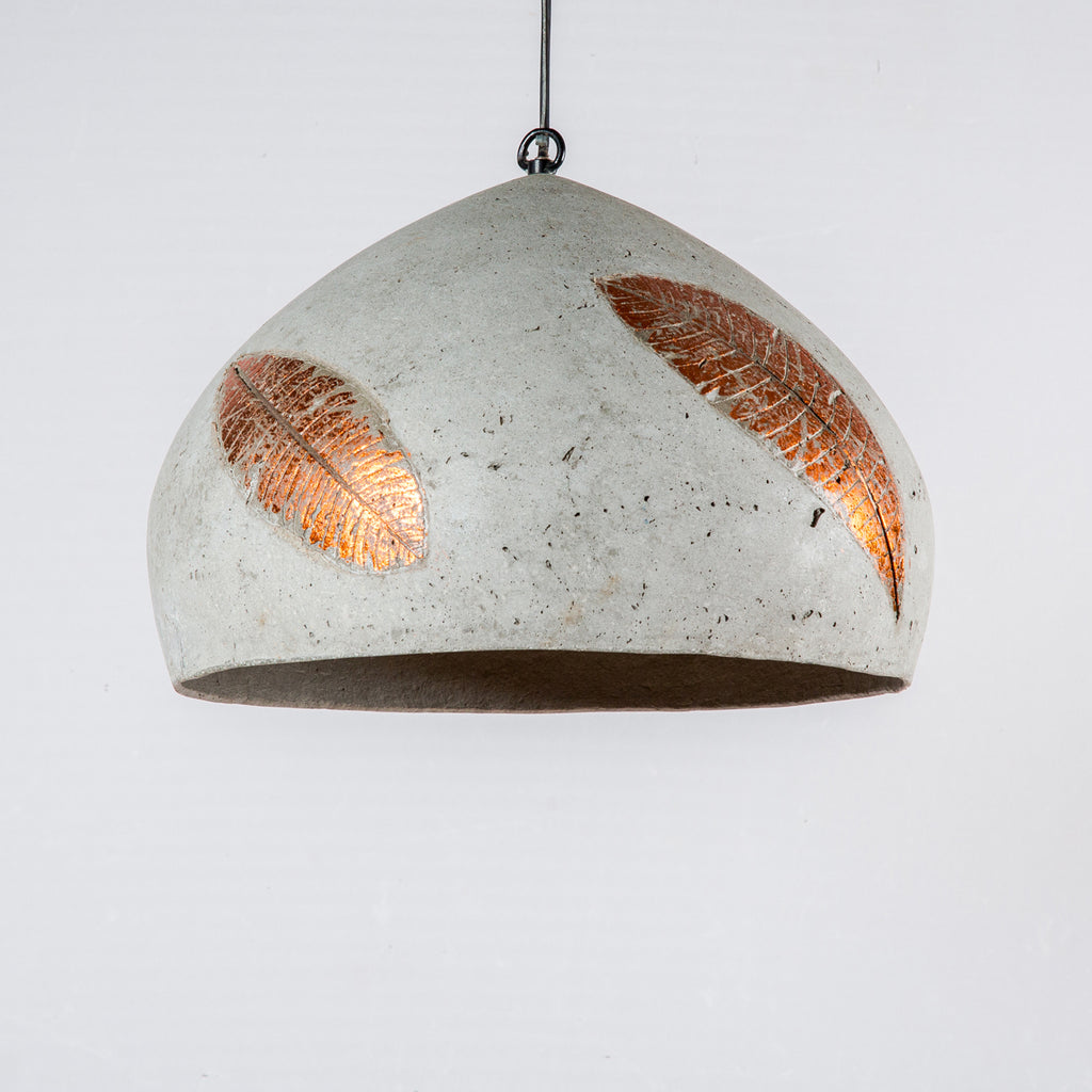 Copper Folio Domical Pendant Lamp