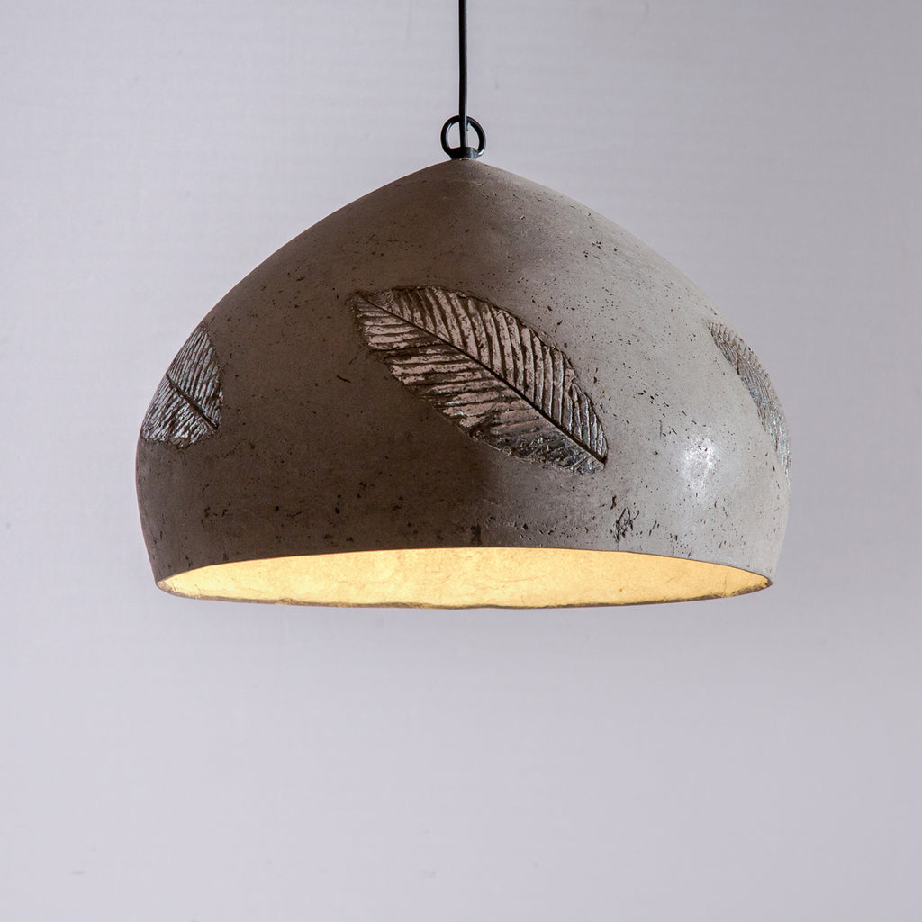 Silver Folio Domical Pendant Lamp