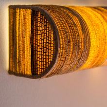 Tube Cover Curve Bark Wall Lamp