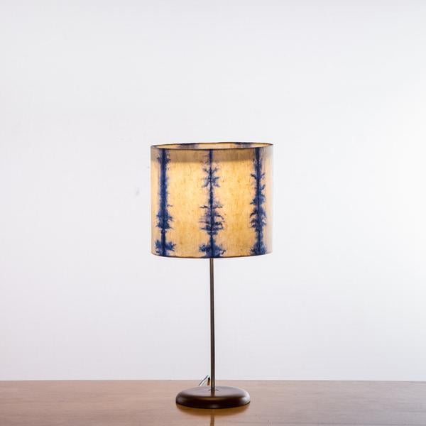 Blue Linear Tower Table Lamp