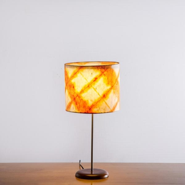 Orange Diamond Tower Shibori Table Lamp