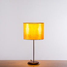 Orange Linear Tower Shibori Table Lamp