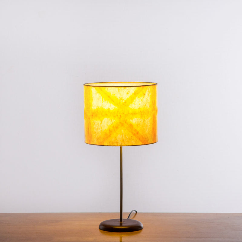 Orange Star Tower Shibori Table Lamp