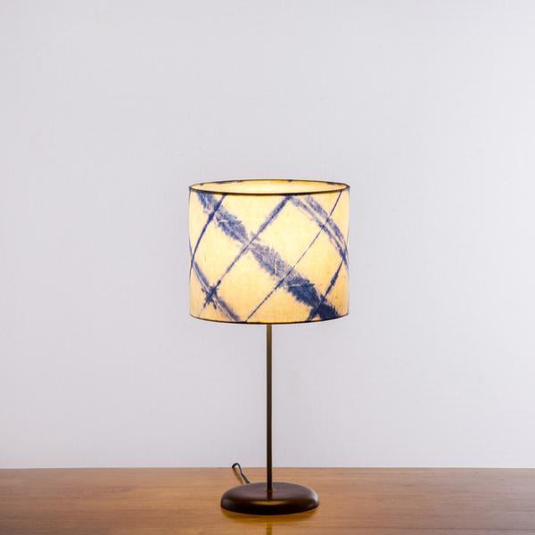 Blue Diamond Tower Shibori Table Lamp