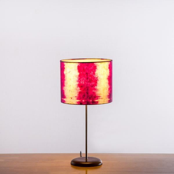 Magenta Linear Tower Shibori Table Lamp