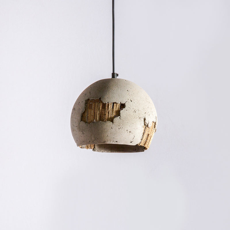 Orb Pendant Lamp with Banana Rope Mesh