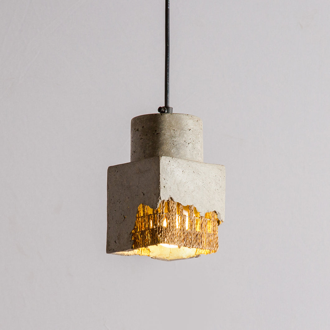Cubicask Pendant Lamp with Banana Fiber Rope