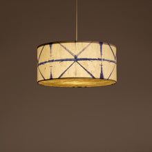 Blue Drum Shibori Star Pendant Lamp