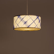 Blue Drum Shibori Diamond Pendant Lamp