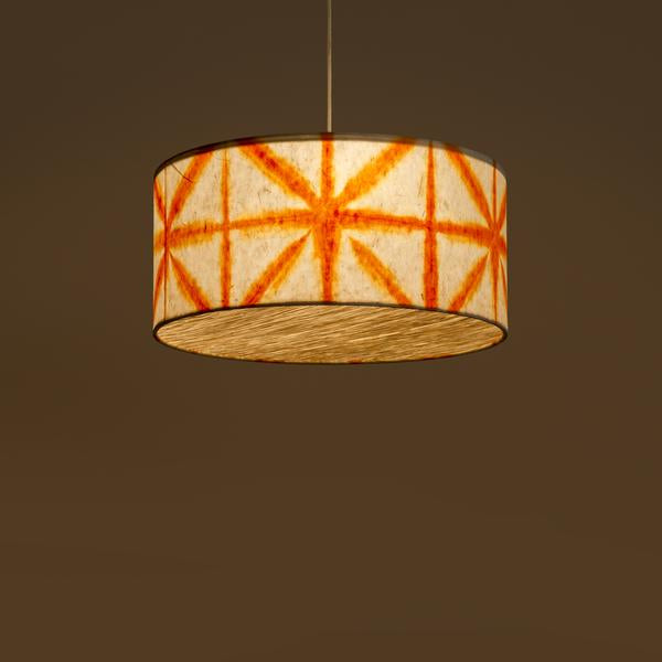 Orange Drum Shibori Star Pendant Lamp