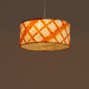 Orange Drum Shibori Diamond Pendant Lamp