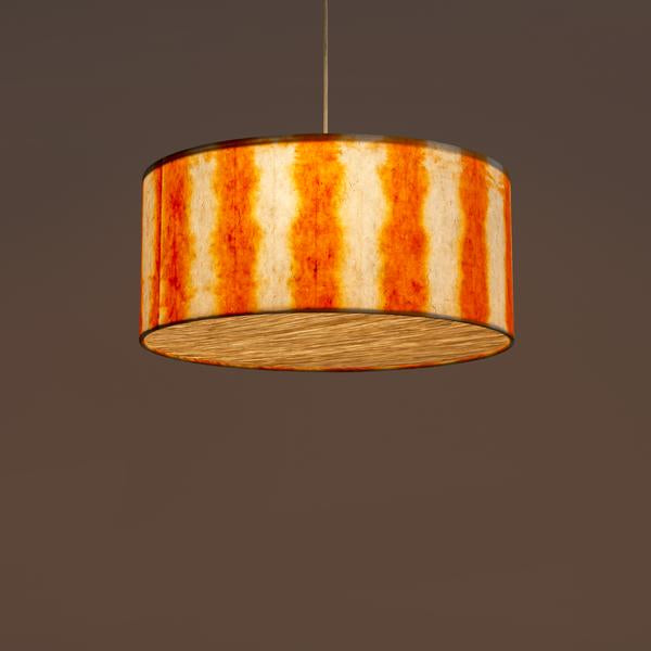 Orange Drum Shibori Linear Pendant Lamp