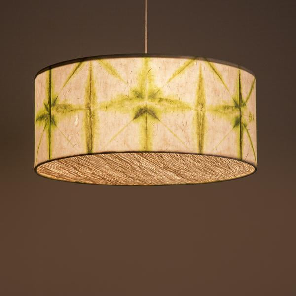 Green Drum Shibori Star Pendant Lamp