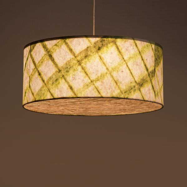 Green Drum Shibori Diamond Pendant Lamp