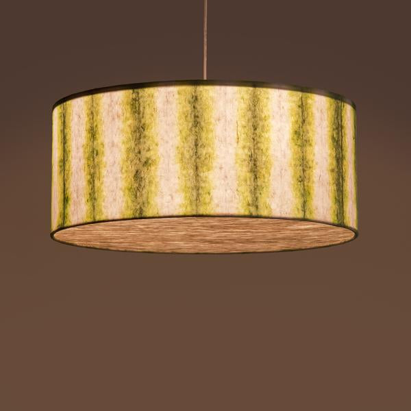 Green Drum Shibori Linear Pendant Lamp