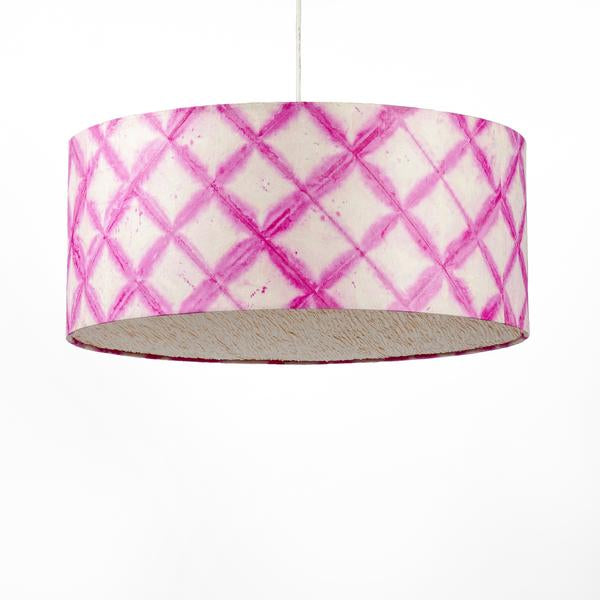 Pink Drum Shibori Diamond Pendant Lamp