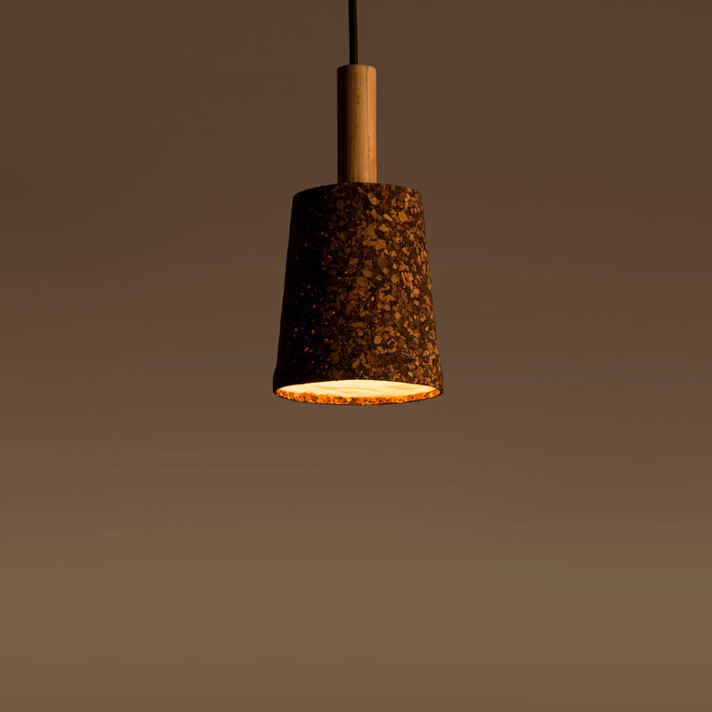 Carmel Dark Natural Pendant Lamp