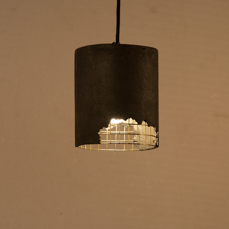 Canister Mesh Fusion Pendant Lamp(Black & Brass)