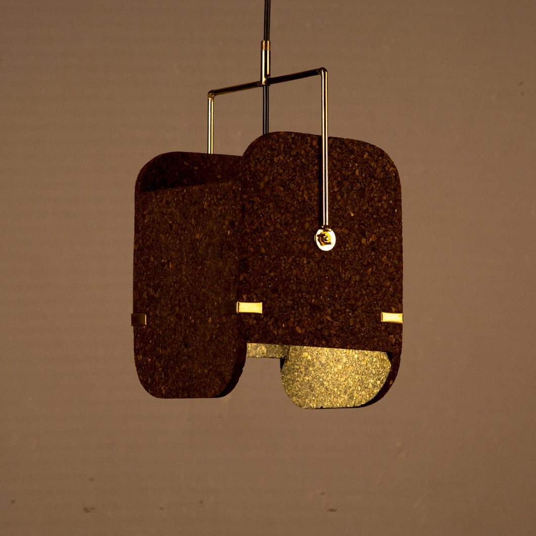 Jude T Pendant Lamp (Dark Cork)