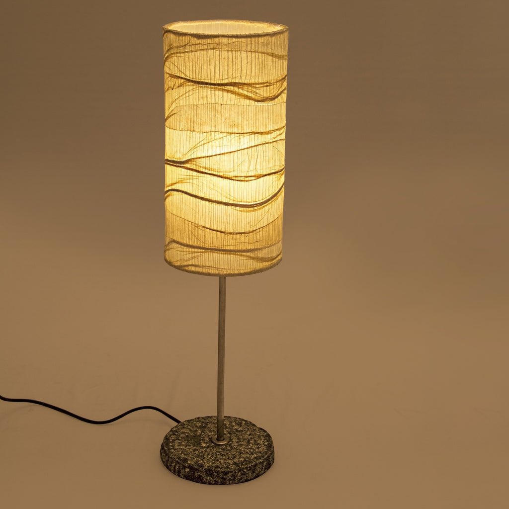 Tower Woven Table Lamp