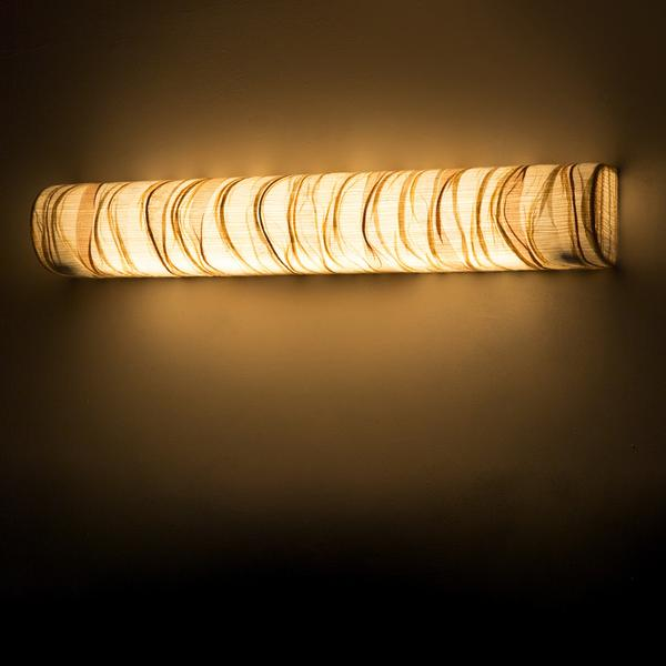 Tube Cover Curve Woven Wall Lamp Small