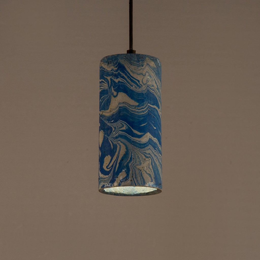 Azure Dappled Icicle Pendant Lamp