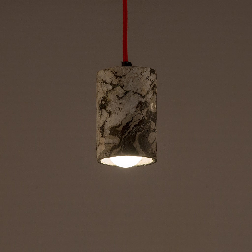 Graphite Dappled Cask Pendant Lamp