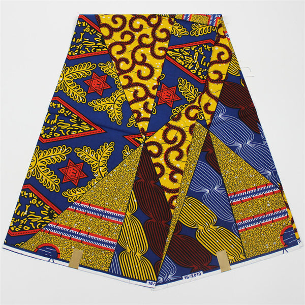 African wax fabric in chaotic print