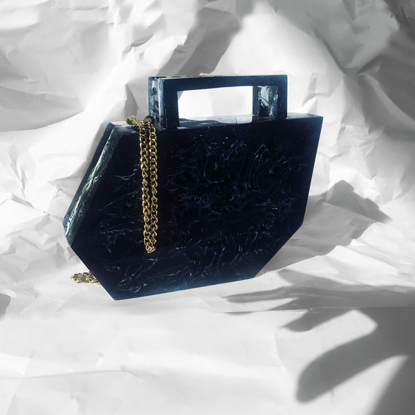 Shadow Clutch in Galaxy Blue