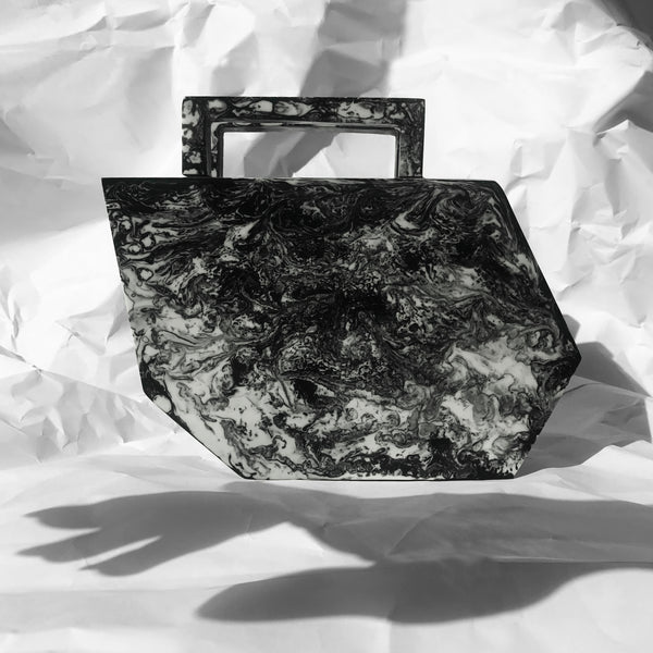 Shadow Clutch in Charcoal Black