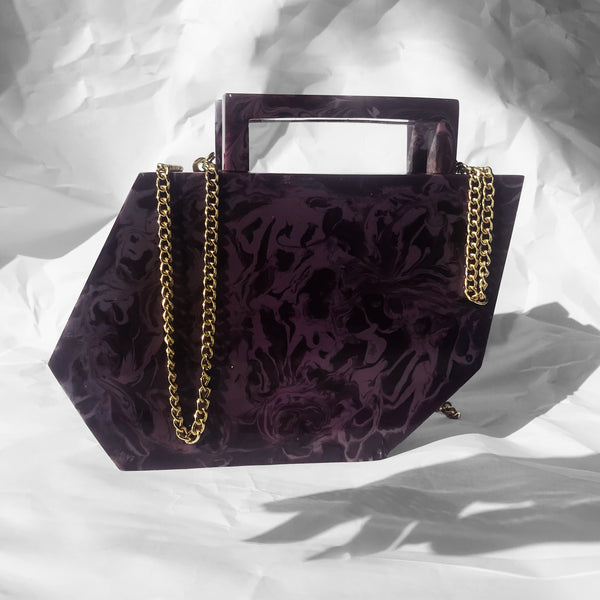 Shadow Clutch in Violet