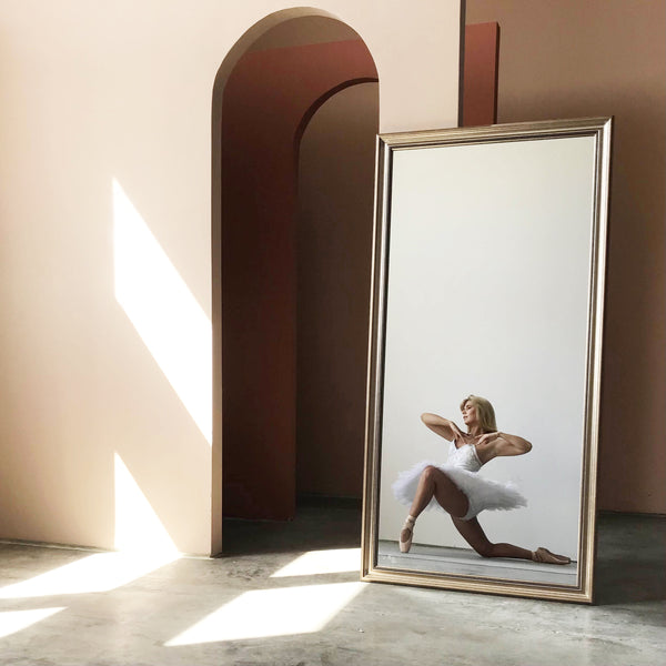 Large Champagne Wall Mirror
