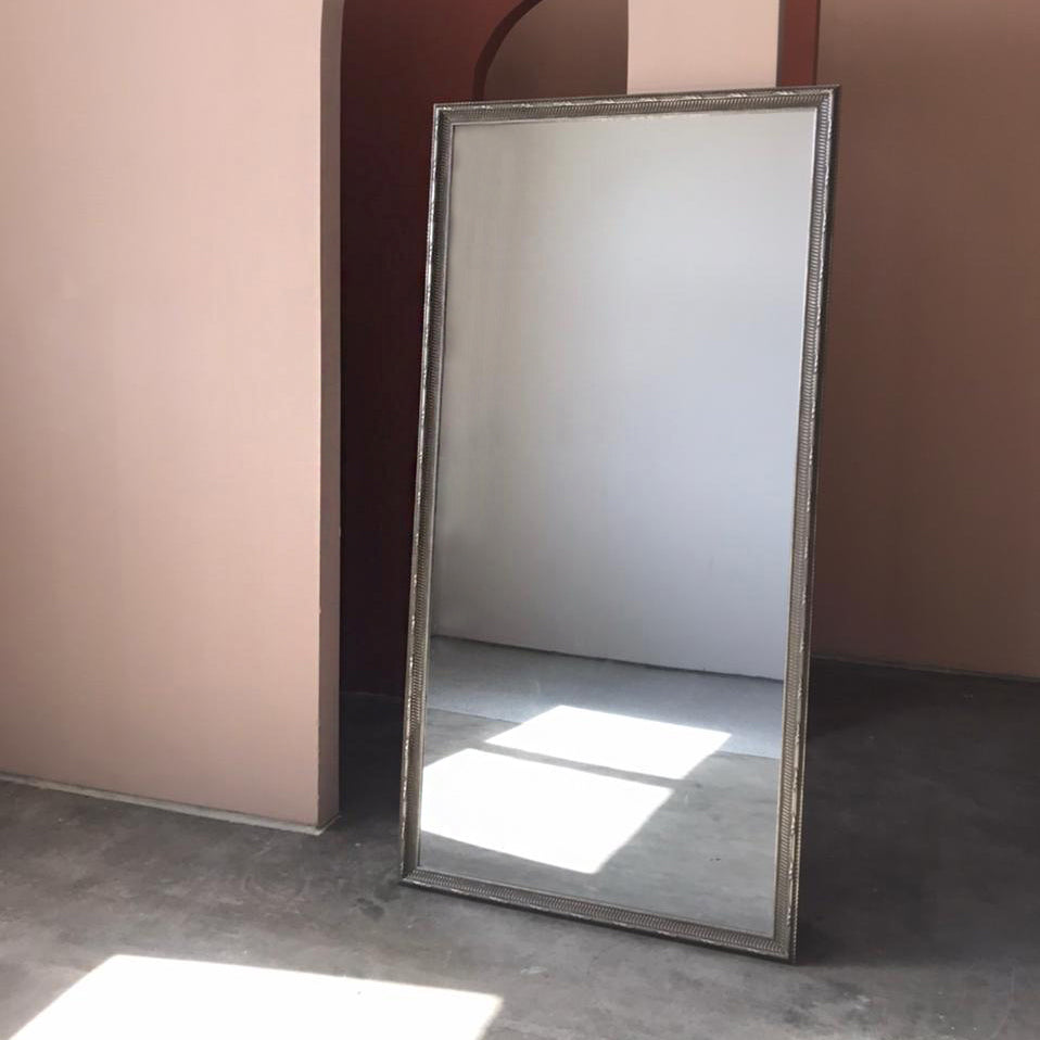 Large Grey Baroque Wall Mirror