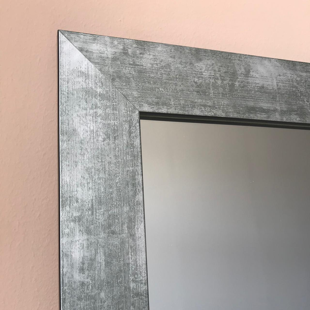 Large Concrete Effect Wall Mirror