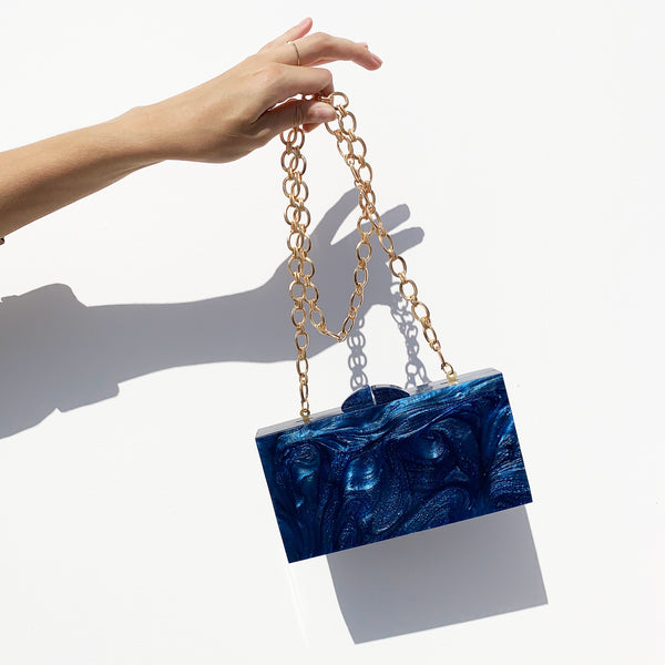 Waves Clutch In Classic Blue