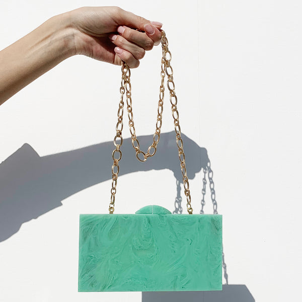 Waves Clutch In Teal