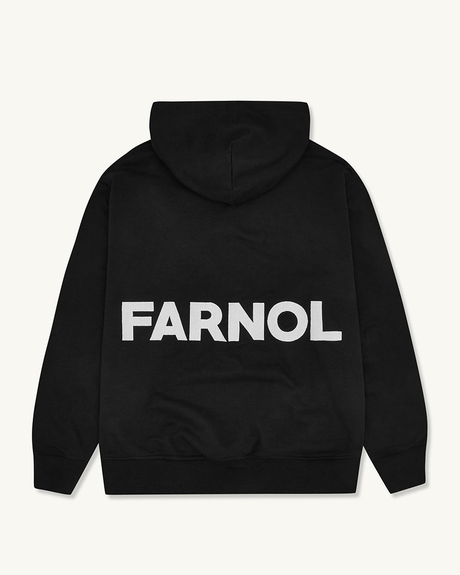 Branded Hooded Sweatshirt | Black - Farnol