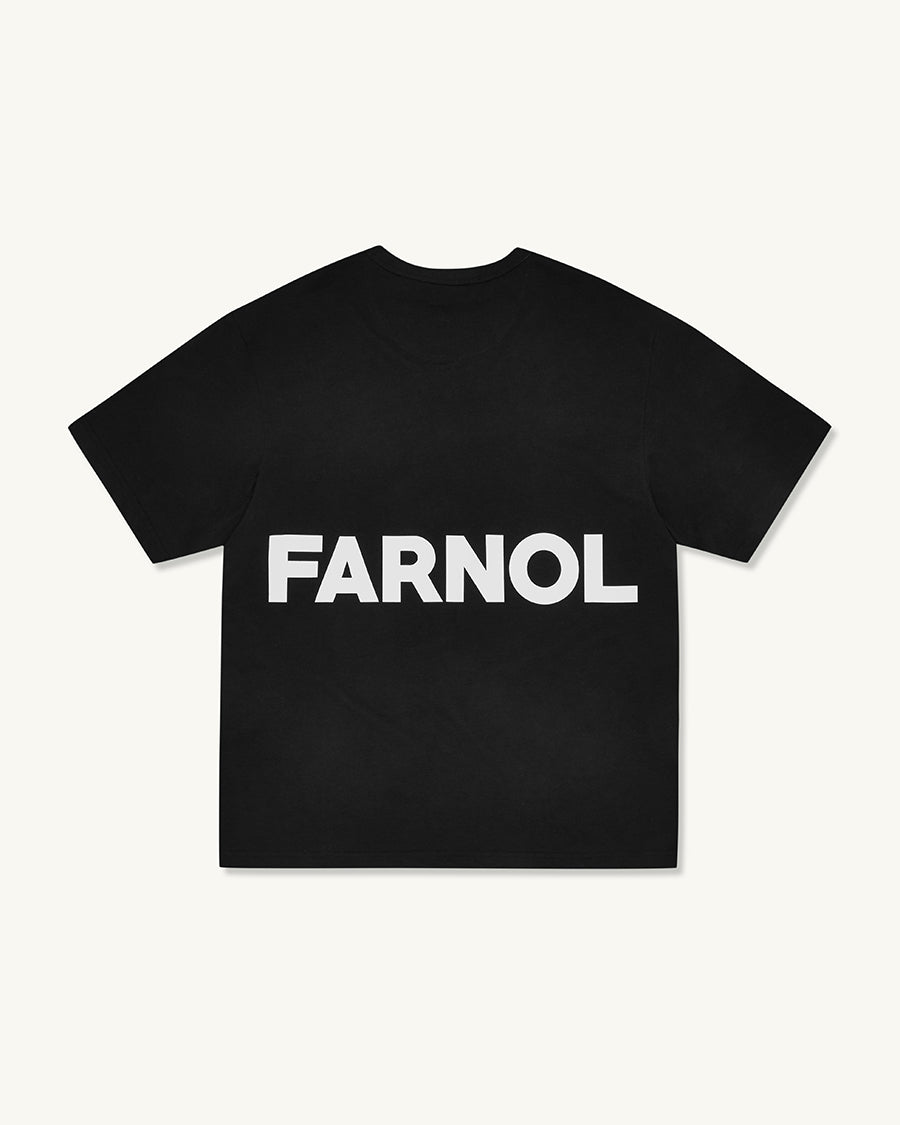 Branded Short Sleeve T-shirt | Black - Farnol