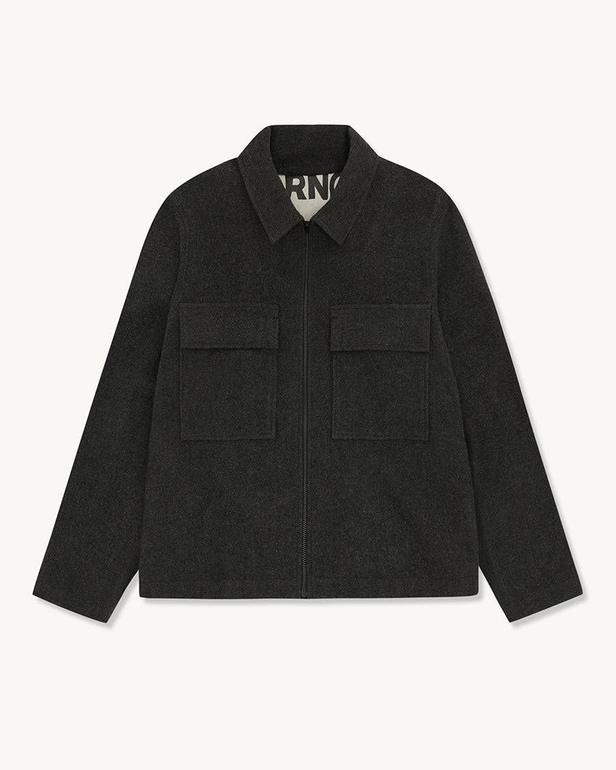 Flannel Jacket | Charcoal - Farnol