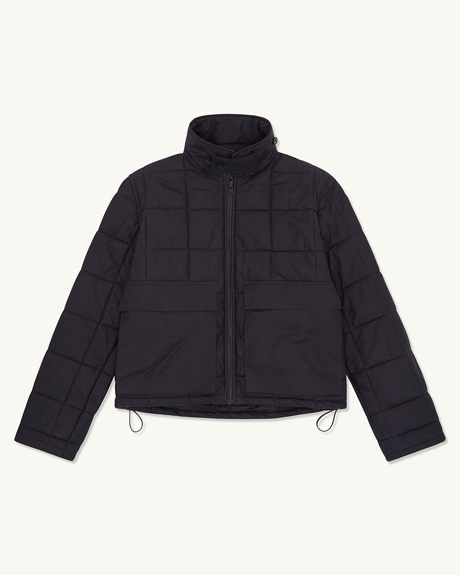Box Quilted Jacket | Navy - Farnol