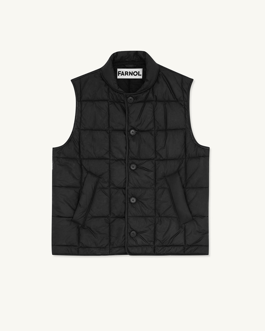 Box Quilted Vest | Navy - Farnol
