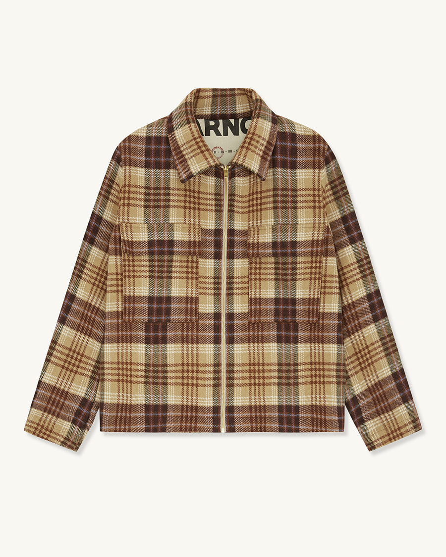 Wool Jacket Check | Red - Farnol