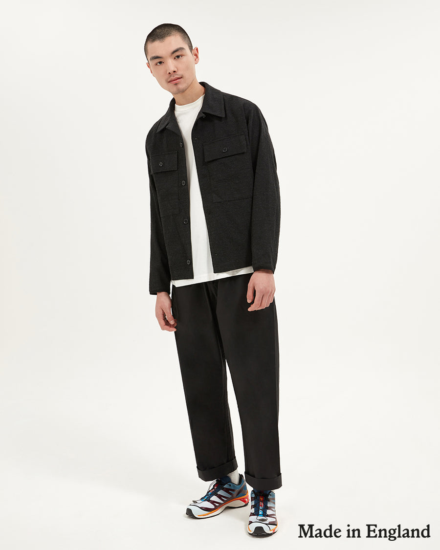 Drawcord Trousers | Black - Farnol