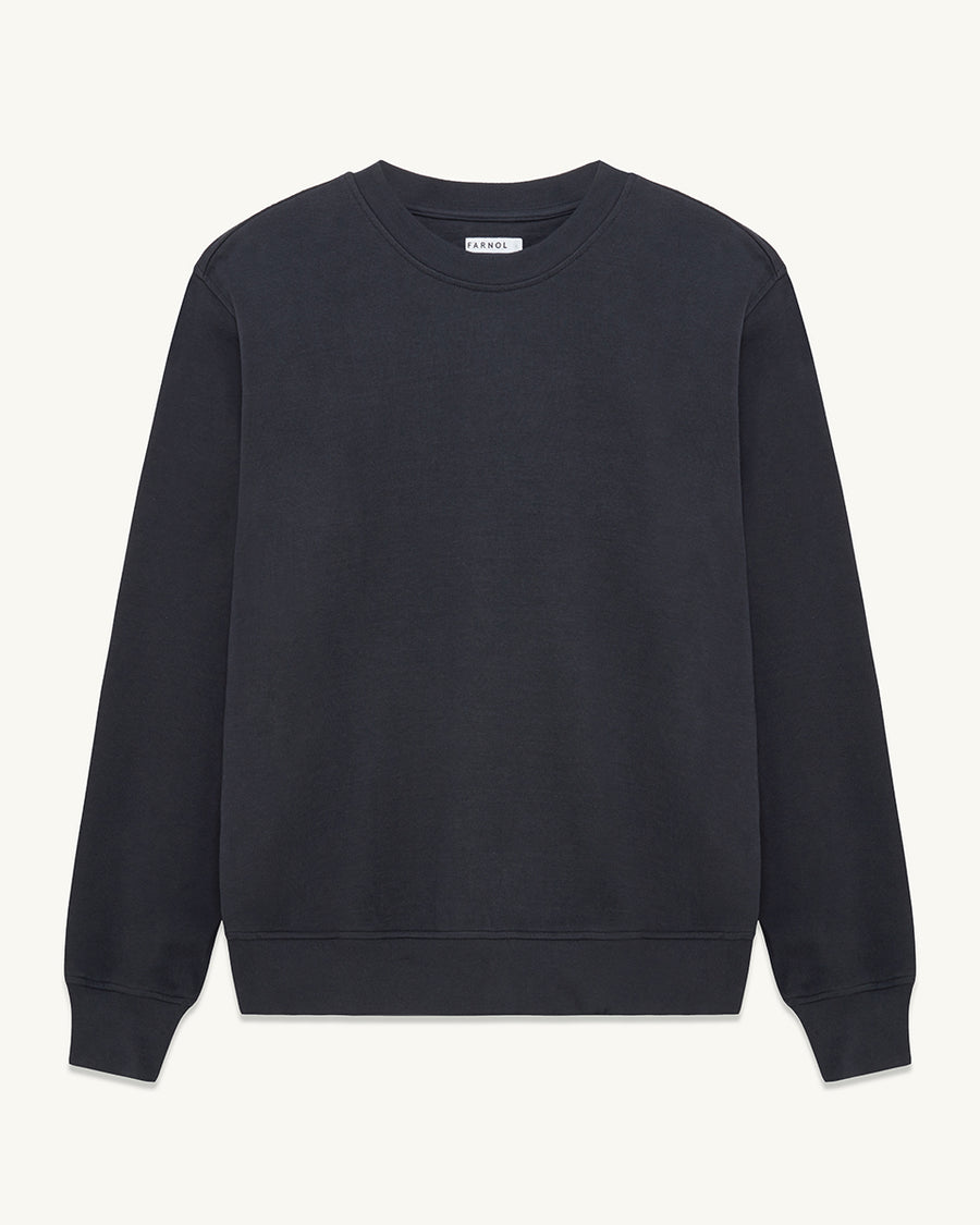 Ruislip crewneck sweatshirt  ###  - Organic loopback cotton - Generous fit  - Ribbed cuffs and hem - 100% Cotton