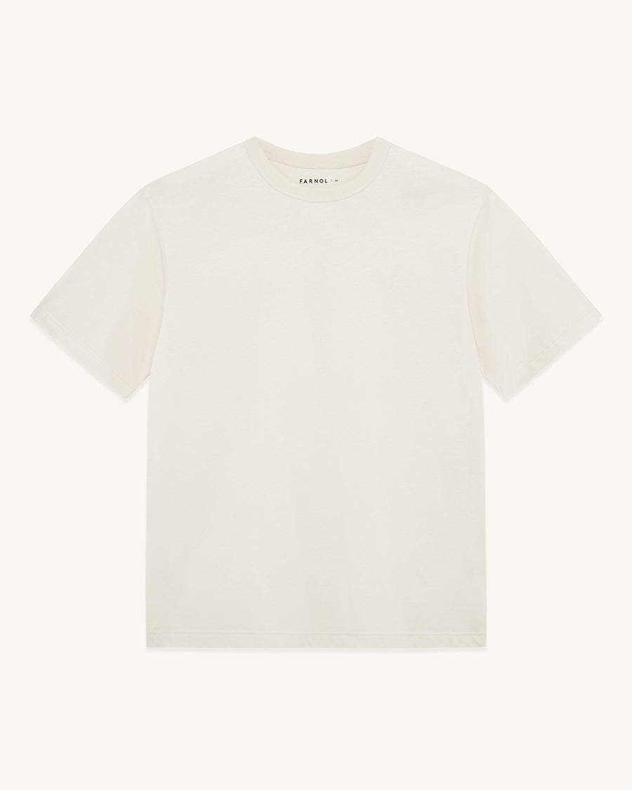Short Sleeve T-shirt | Ivory - Farnol