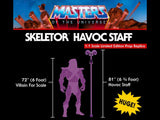 Masters Of The Universe - Skeletor Havoc Staff [1:1 Scale Prop Replica]