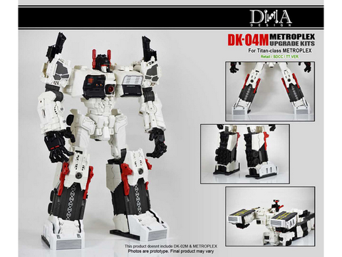 DNA Design - DK-04M - Metroplex Add on kit - TOYBOT IMPORTZ