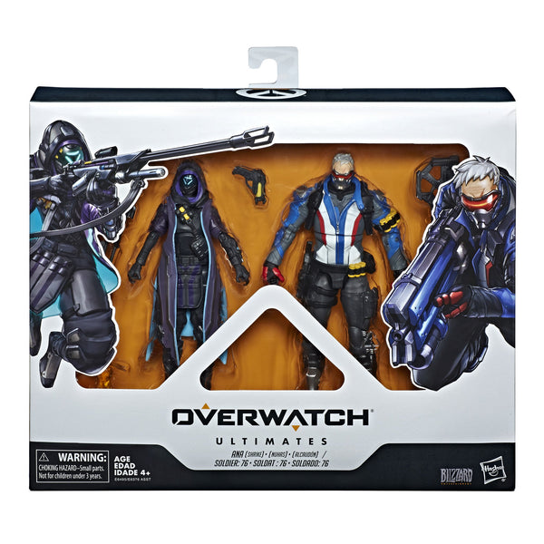Overwatch Ultimates - Dual Pack: Soldier 76 and Shrike Ana HASBRO - TOYBOT IMPORTZ