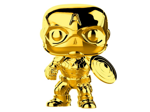 US Exclusive Pop! Vinyl - Marvel Studios 10th Anniversary - Captain America Gold Chrome