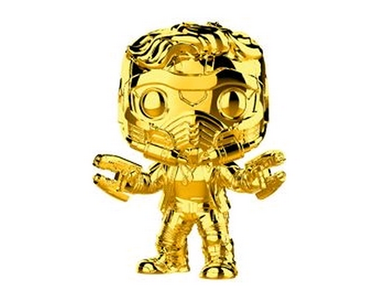 US Exclusive Pop! Vinyl - Marvel Studios 10th Anniversary - Star-Lord Gold Chrome